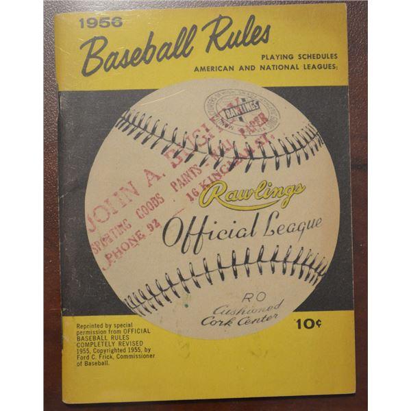 1956 Baseball Rules Handbook