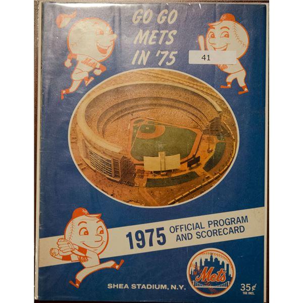 1975 New York Mets Official Scorecard