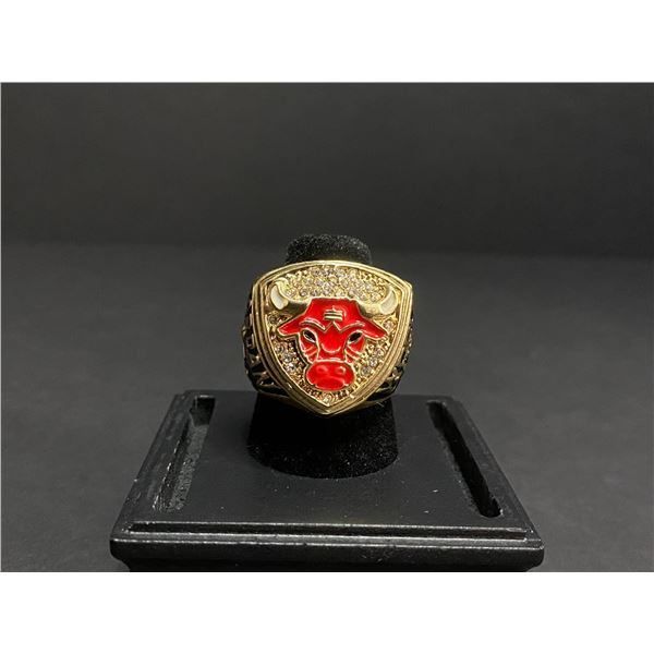 "CHICAGO BULLS 1991 NBA WORLD FINALS CHAMPIONSHIP REPLICA RING ""JORDAN"""