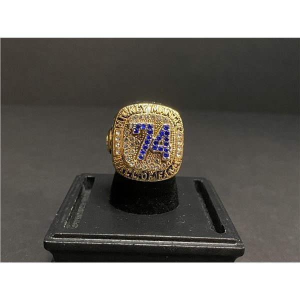 """MICKEY MANTLE 1951-1963 MLB HALL OF FAME CHAMPIONSHIP REPLICA RING """"MANTLE"""""""