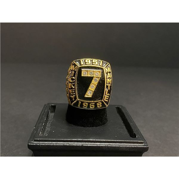 """MICKEY MANTLE 1951-1968 MLB #7 HALL OF FAME CHAMPIONSHIP REPLICA RING """"MANTLE"""""""