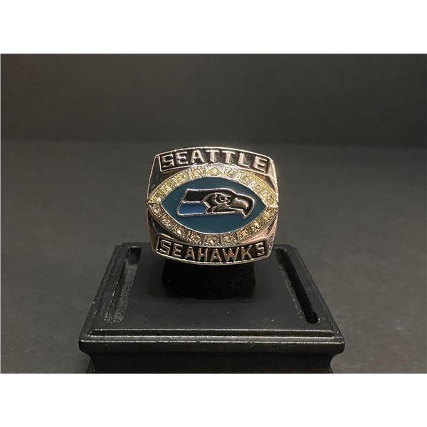 "SEATTLE SEAHAWKS 2005 NFL SUPERBOWL CHAMPIONSHIP REPLICA RING ""ALEXANDER"""