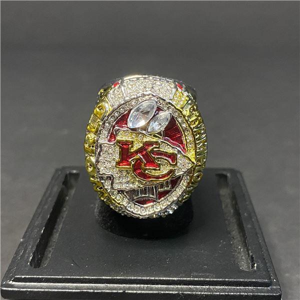 "KANSAS CITY CHIEFS 2019 NFL SUPERBOWL CHAMPIONSHIP REPLICA RING ""MAHOMES"""