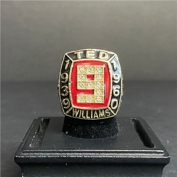 TED WILLIAMS #9 HALL OF FAME CHAMPIONSHIP REPLICA RING 1939-1960
