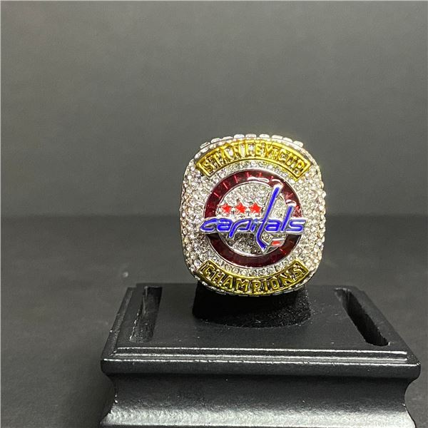"""WASHINGTON CAPITALS 2018 NHL STANLEY CUP CHAMPIONSHIP REPLICA RING """"OVECHKIN"""""""