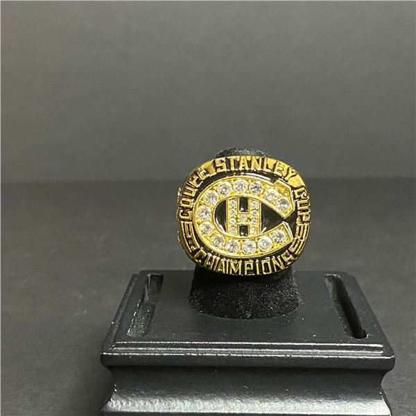 """MONTREAL CANADIENS 1988 STANLEY CUP CHAMPIONSHIP REPLICA RING """"ROY"""""""
