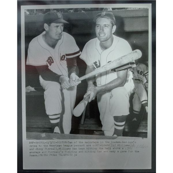 1955 Ted Williams/jimmy Piersall Photo