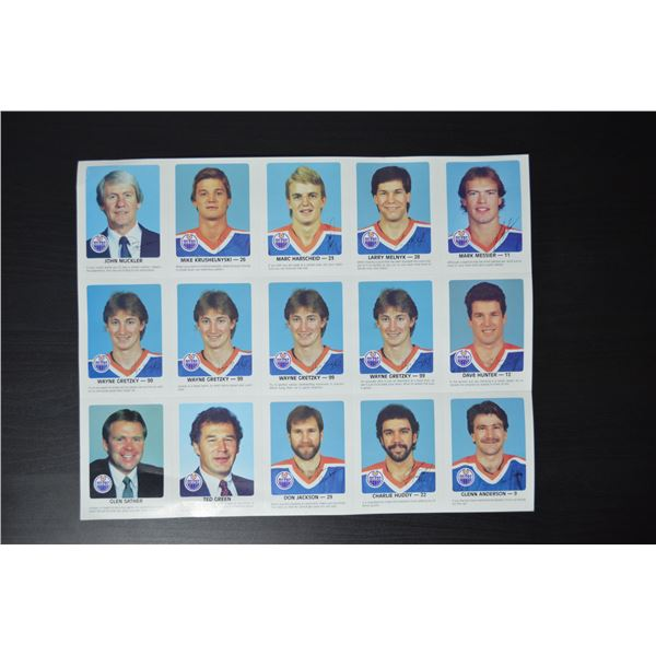 1984-85 Oilers Red Rooster Cards (Uncut)