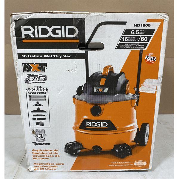 RIDGID 16 GAL SHOP VAC - NEW IN BOX