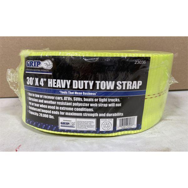 "HEAVY DUTY TOW STRAP - 4"" X 30' - NEW"