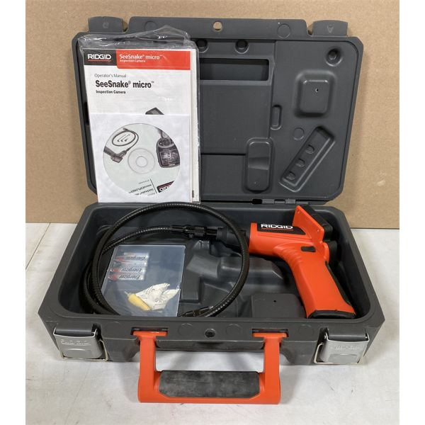 RIDGID SEE-SNAKE MICRO - AS NEW WITH BATTERIES