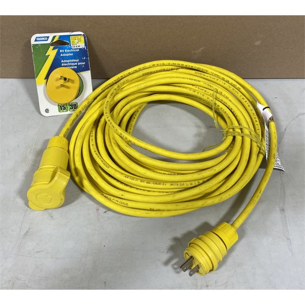 EXTENSION CORD WITH RV ADAPTER