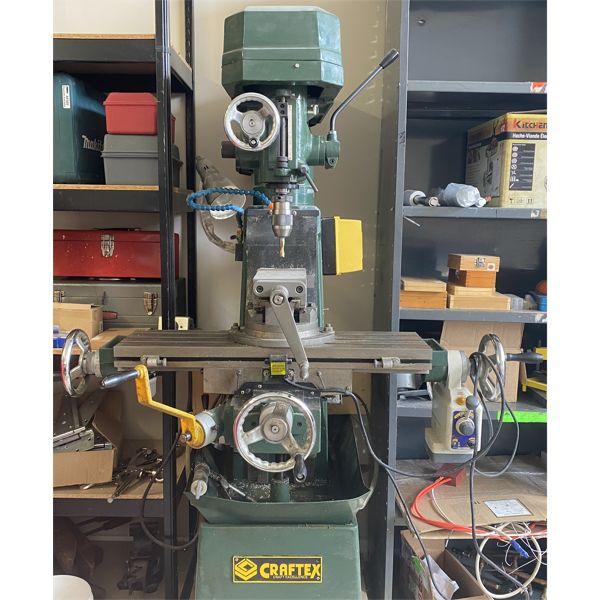 CRAFTEX MODEL B048 VERTICAL MILLING MACHINE