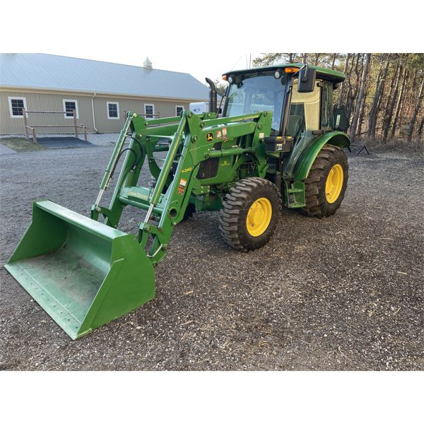 2017 JD 5075E TRACTOR, 4WD, W/H420 LOADER