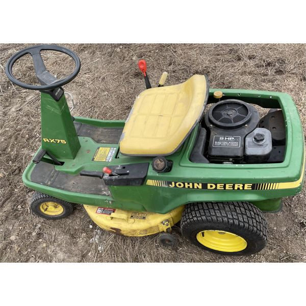 "JOHN DEERE MODEL RX75 30"" CUT RIDING MOWER - GOOD WORKING CONDITION"