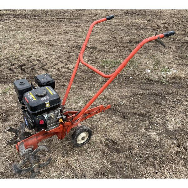 6.5 HP FRONT TINE TILLER - WORKING