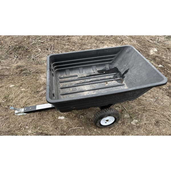 POLY CONSTRUCTED LAWN & GARDEN DUMP TRAILER - VERY GOOD CONDITION