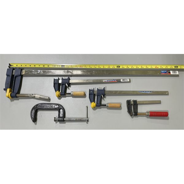 LOT OF 5 CLAMPS