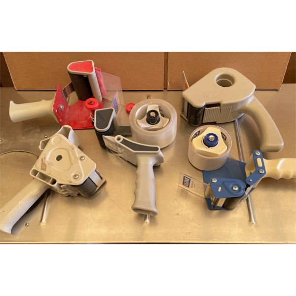 LOT OF 5 PACKING TAPE DISPENSERS