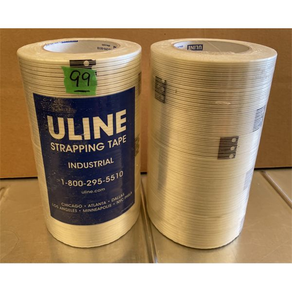 LOT OF 18 ROLLS OF ULINE STRAPPING TAPE