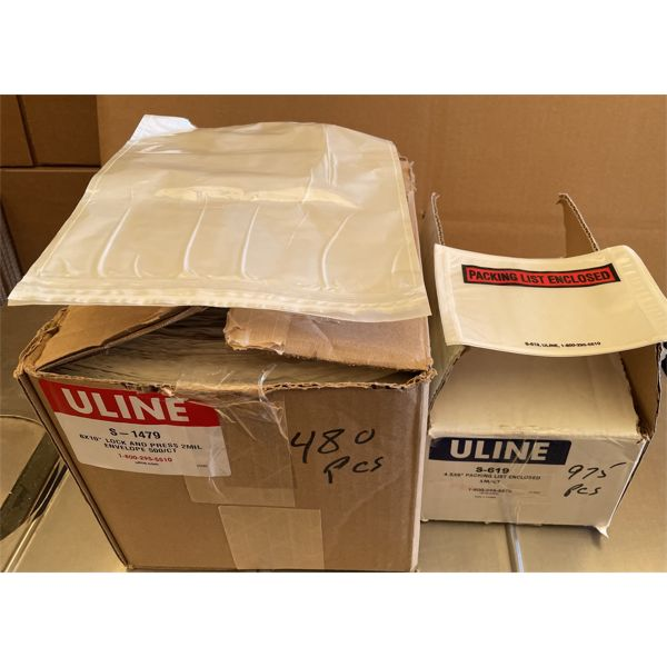 """LOT OF APPROX 1500 PACKING ENVELOPES - 4.5"""" X 6"""" & 8"""" X 10"""""""