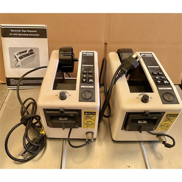 LOT OF 2 ELECTRONIC TAPE DISPENSER - GOOD CONDITION