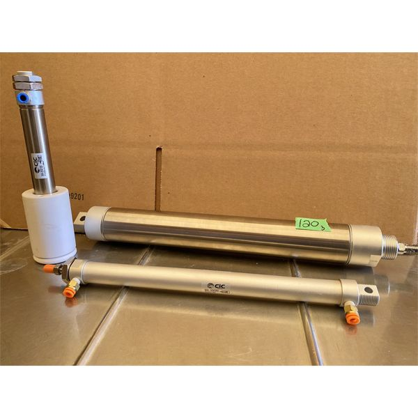 LOT OF 3 PNEUMATIC CYLINDERS - AS NEW