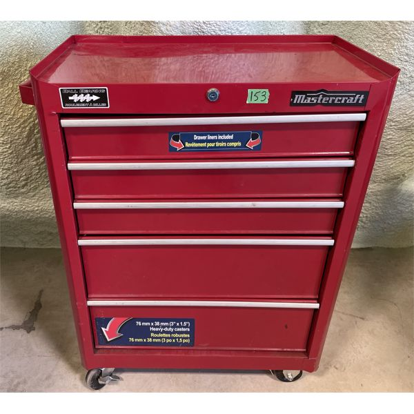 """MC ROLLING TOOL CABINET W/ CONTENTS - 33"""" H"""