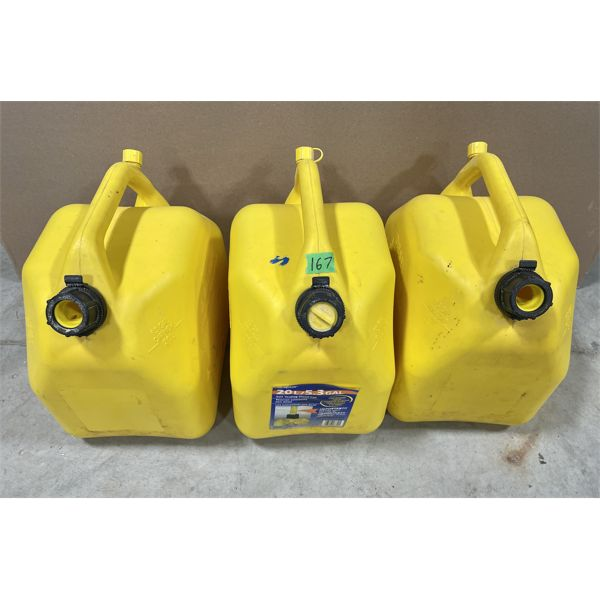 LOT OF 3 DIESEL FUEL CANS
