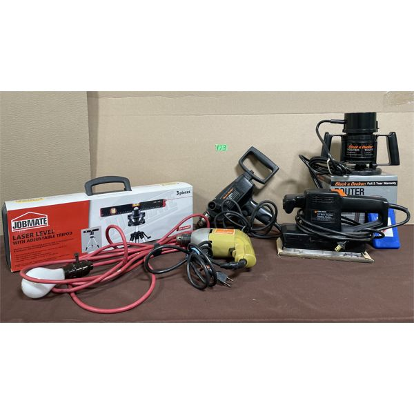 JOB LOT - LASER LEVEL - AS NEW, POWER TOOLS - USED - WORKING