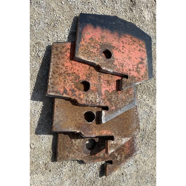 LOT OF 4 75 LBS TRACTOR WEIGHTS