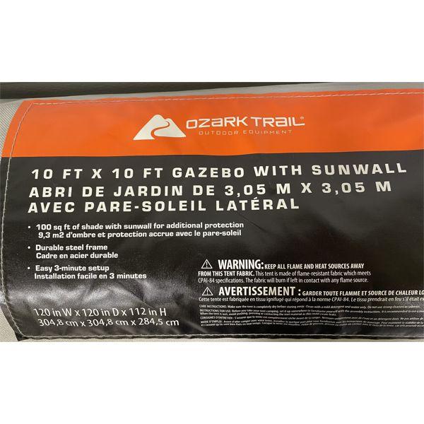10' X 10' FOLDING GAZEBO - STEEL FRAME W/ FABRIC TOP - MINIMAL USE