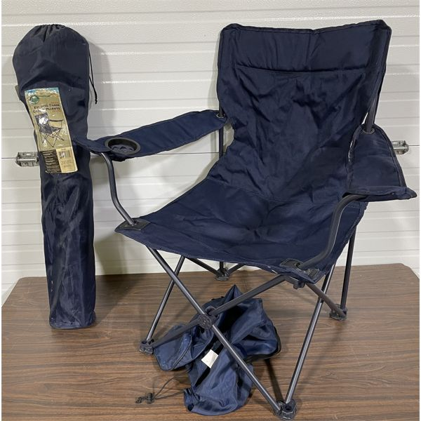 LOT OF 2 FOLDING LAWN CHAIRS
