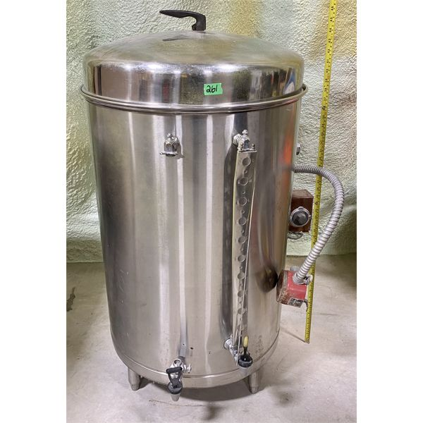 LARGE STAINLESS DISPENSING TANK - WIRED