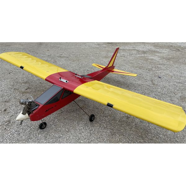 """REMOTE CONTROL AIRPLANE W/ 62"""" WING SPAN - INCLUDES EXTRA PARTS"""