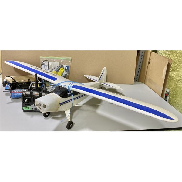 """SPECTRUM REMOTE CONTROL AIRPLANE W/ 48"""" WING SPAN - INCLUDES EXTRA PARTS"""