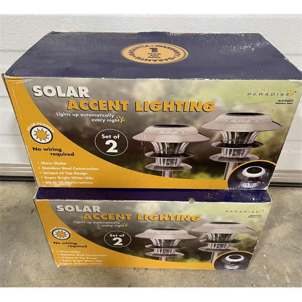 LOT OF 2 PACKAGES OF SOLAR LIGHTS - NEW