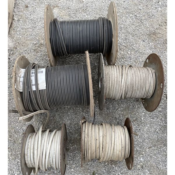 LOT OF 5 - ROLLS OF ELECTRICAL WIRE