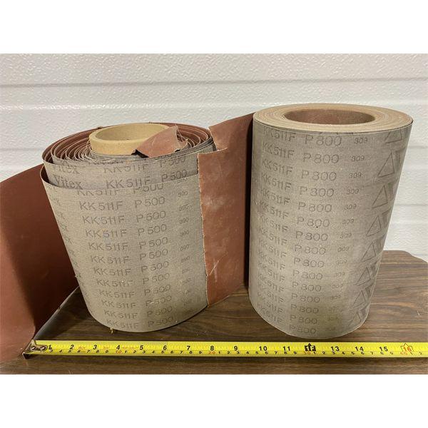 LOT OF 2 ROLLS OF SANDPAPER - P800 GRIT
