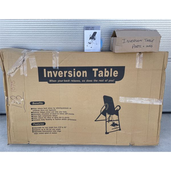 INVERSION TABLE - NEW IN BOX