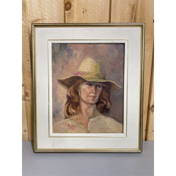 LORAINE HOVEY - PORTRAIT DONE IN OIL ON CANVAS - 16 X 20 INCHES
