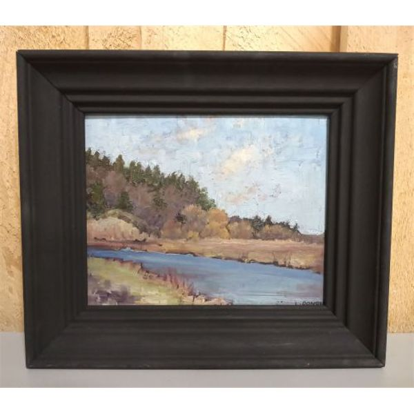 LANGLEY THOMAS DONGES 1902 - 1992. OIL ON BOARD 1927 - 7.5 X 9.5 INCHES