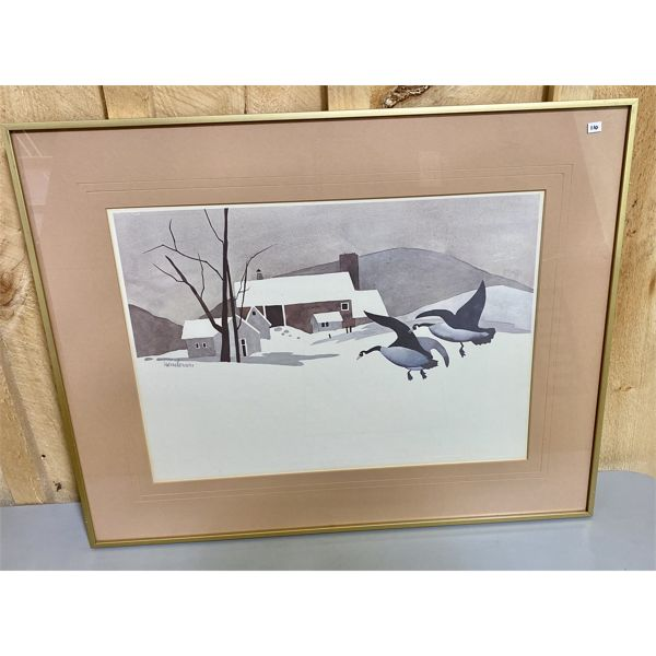 HENDERSON - GEESE - SCREEN PRINT - 14 X 20 INCHES