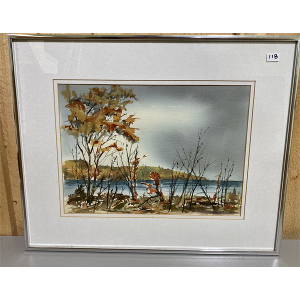 FRED SEEDHOUSE - WATERCOLOUR 'NEAR OWEN SOUND' - 10 X 14 INCHES
