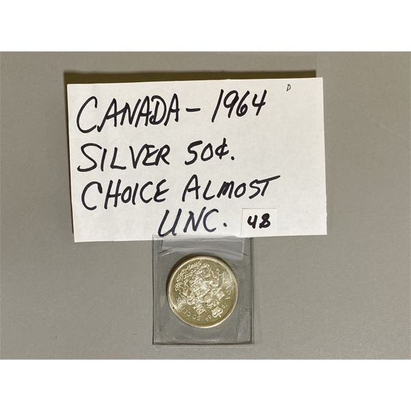 1964 - CANADIAN SILVER 50 CENT PIECE