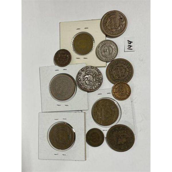 LOT OF 12 MOSTLY PRE-CIVIL WAR US COINS