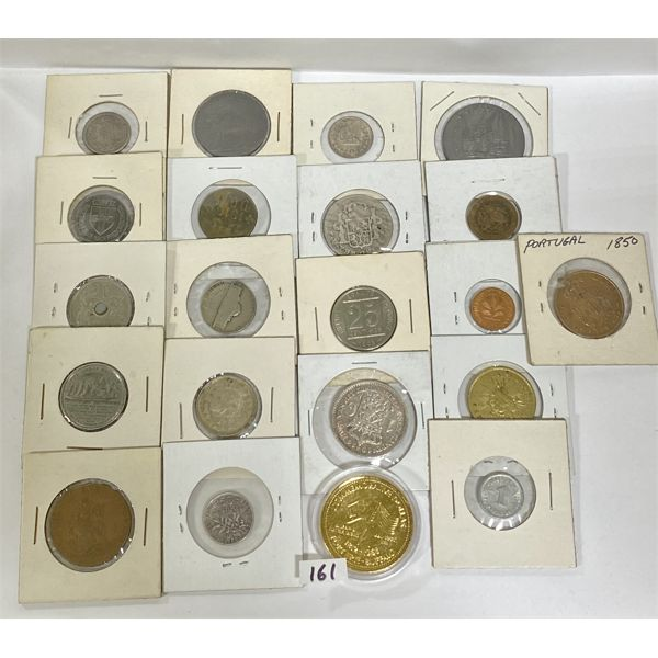 LOT OF 21 COINS IN FLIPS