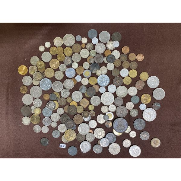 LARGE QTY OF COINS, TOKENS, MEDALLIONS ETC.