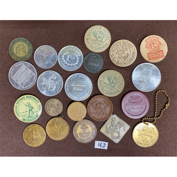 LOT OF 22 COINS AND TOKENS INC BUFFALO BILL MEDALLION
