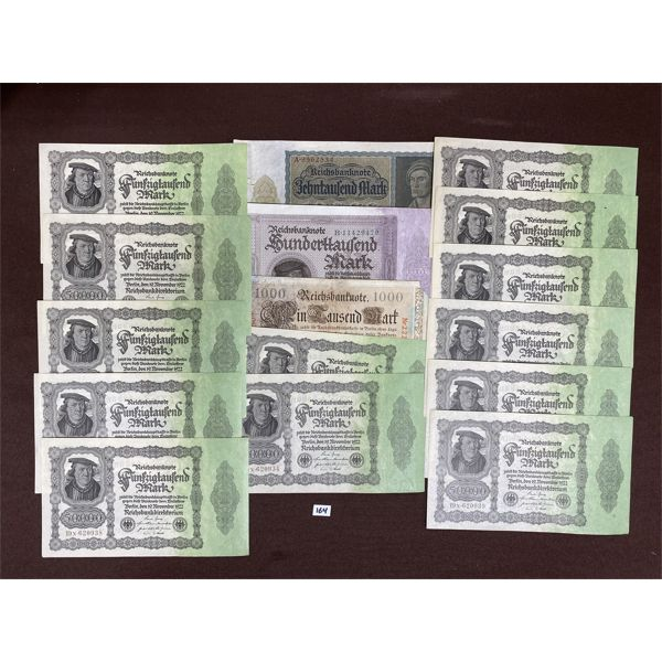 LOT OF 16 GERMAN MARK NOTES